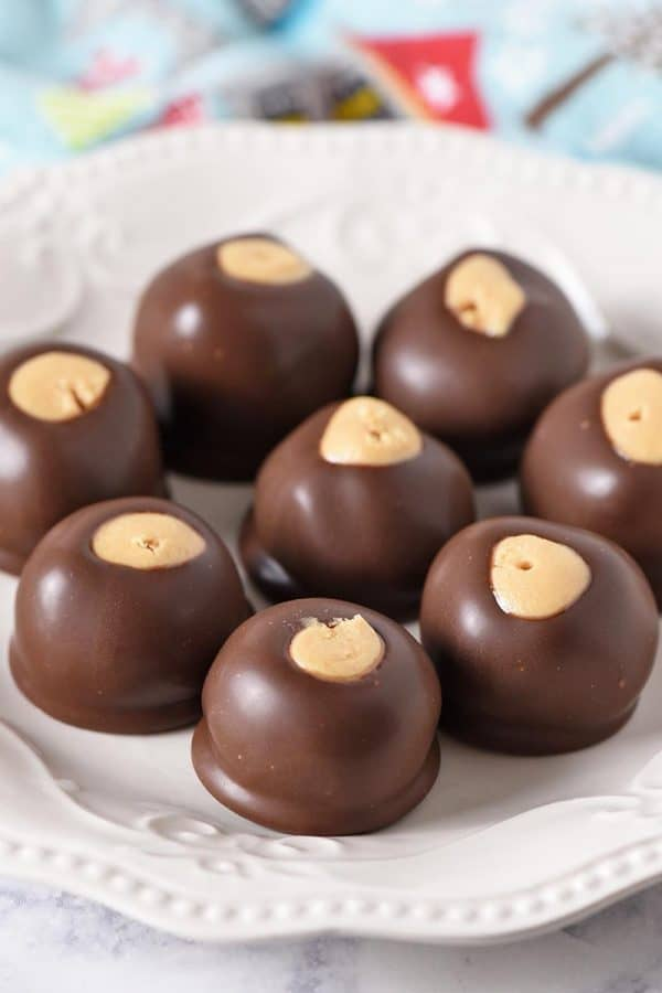 Chocolate Peanut Butter Balls (Buckeye Candy) from Adventures of Mel