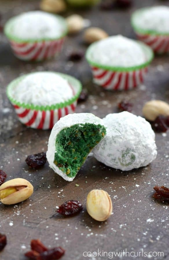 Grinch Snowball Cookies from Cooking with Curls