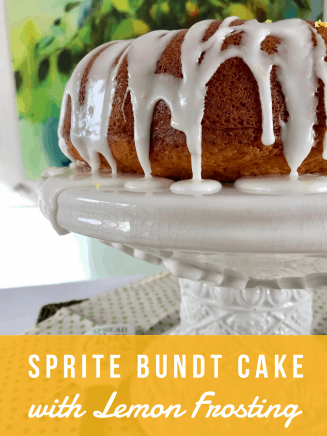 Sprite Bundt Cake with Lemon Frosting from Food Fun Family