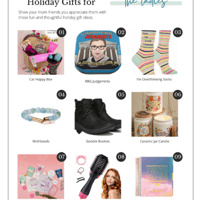 collage image of gift ideas for her