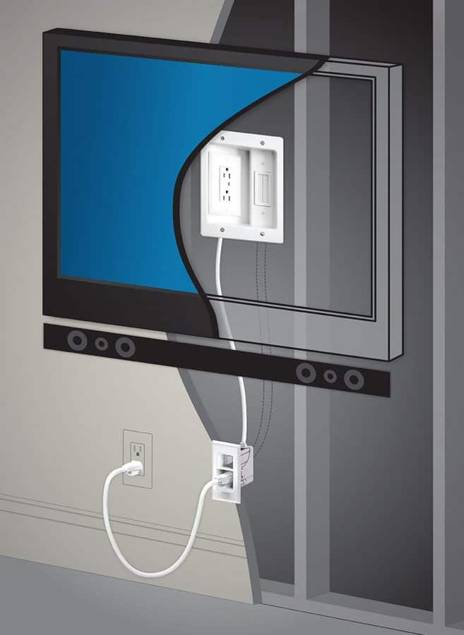 how to hide wires when you mount a tv