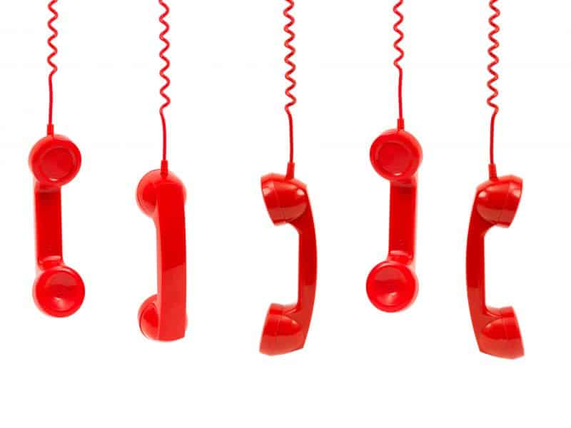 Red Phone Handsets party line