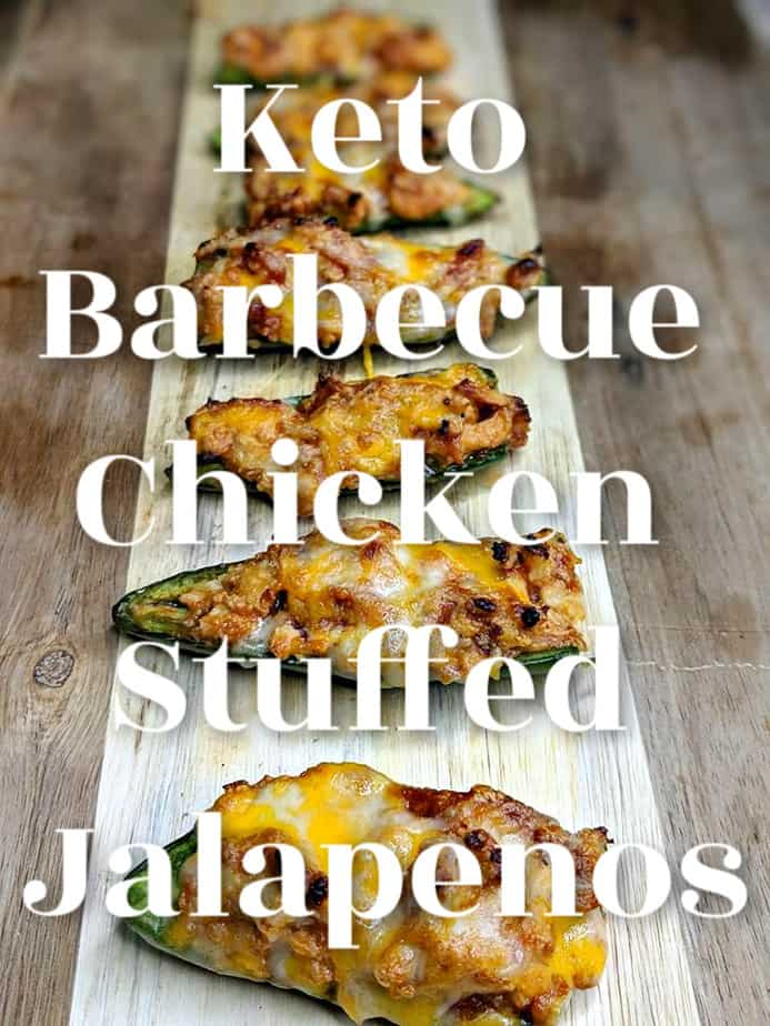 Keto Barbecue Chicken Stuffed Jalapenos low carb jalapenos
