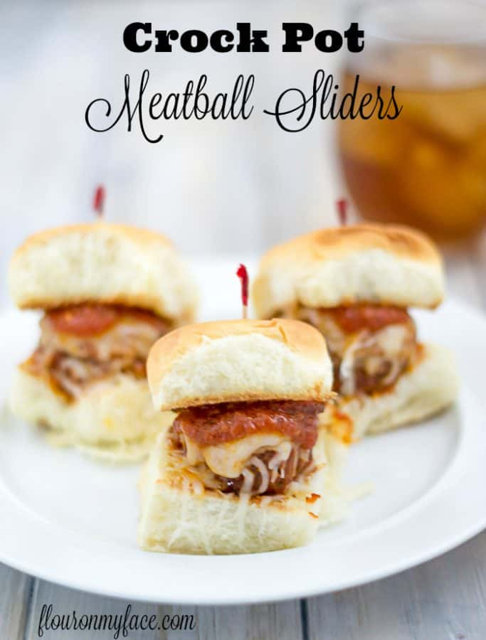 Crock Pot Meatballs Sliders from Flour on My Face