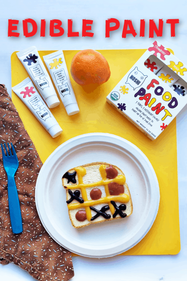 Try this yummy edible paint - encourage kids to play with their food using Noshi Food Paint- organic, gluten-free fruit based paint! #noshifoodpaint#noshiforkids#ColorMyFoodNoshi