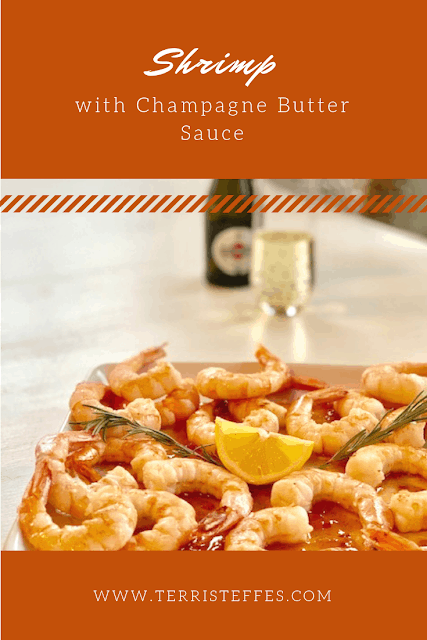 Shrimp with Champagne Butter Sauce from Our Good Life