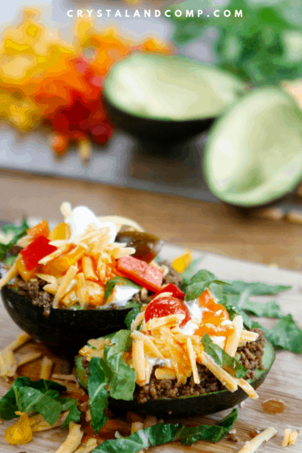 Taco Stuffed Avocados from Crystal and Comp