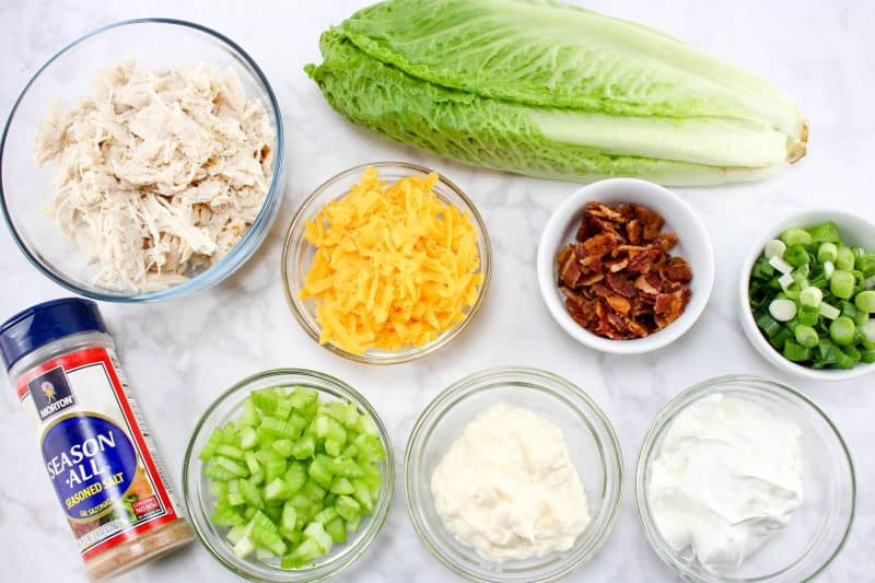 Chicken Lettuce Wraps ingredients