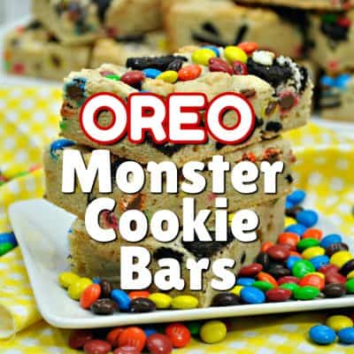Oreo Monster Cookie Bars