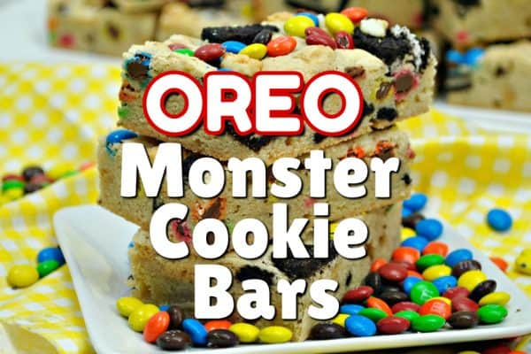 Oreo Monster Cookie Bars Recipe This Mama Loves