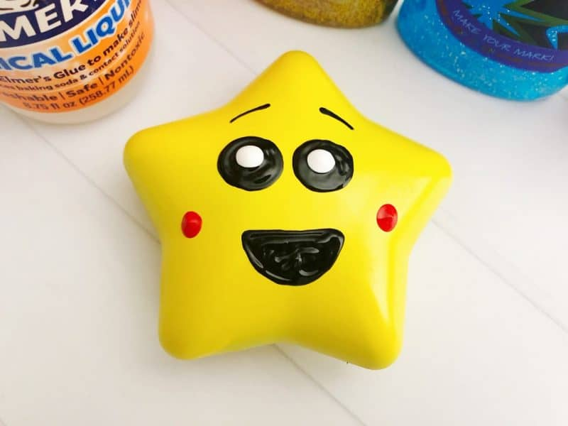 barfing glitter slime star close