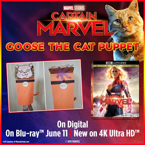 captain marvel goose puppet