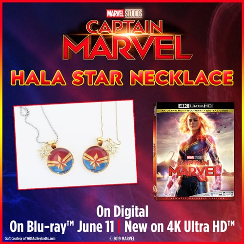 captain marvel hala star necklace