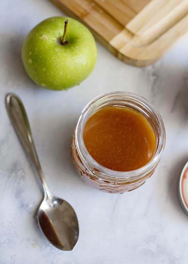 easy homemade caramel sauce for crisp or ice cream