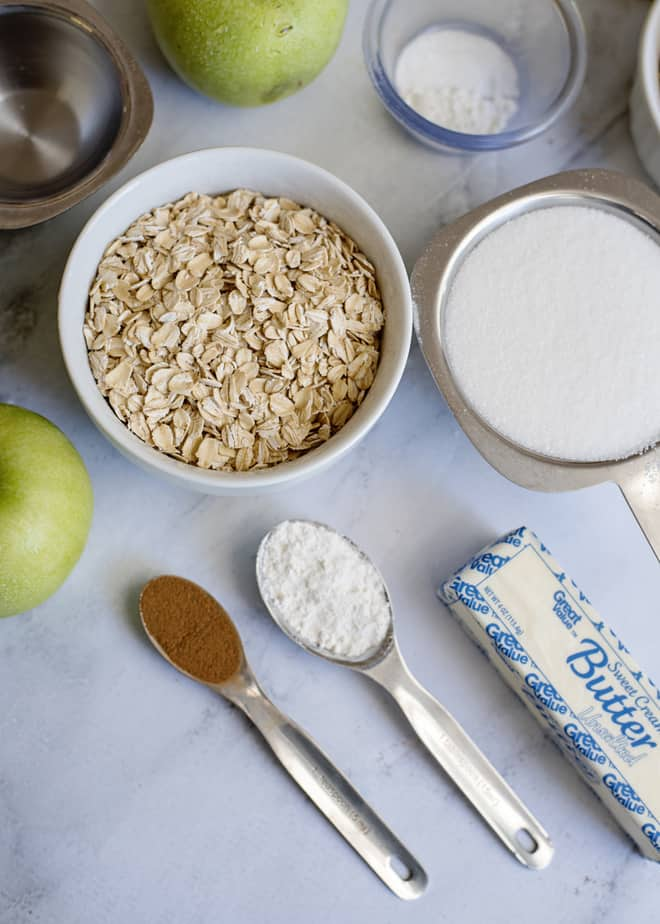 homemade apple crisp topping ingredients