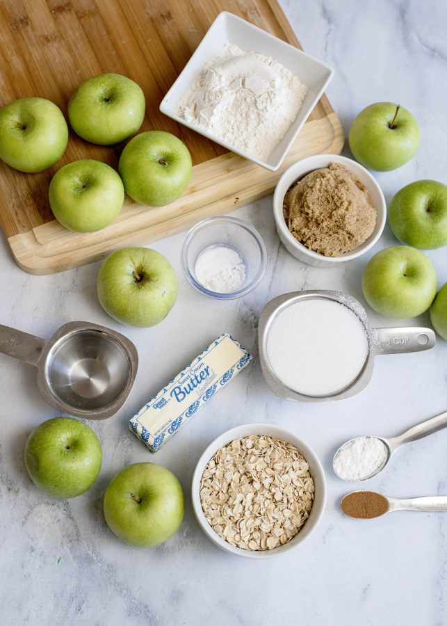 what you need to make homemade apple crisp