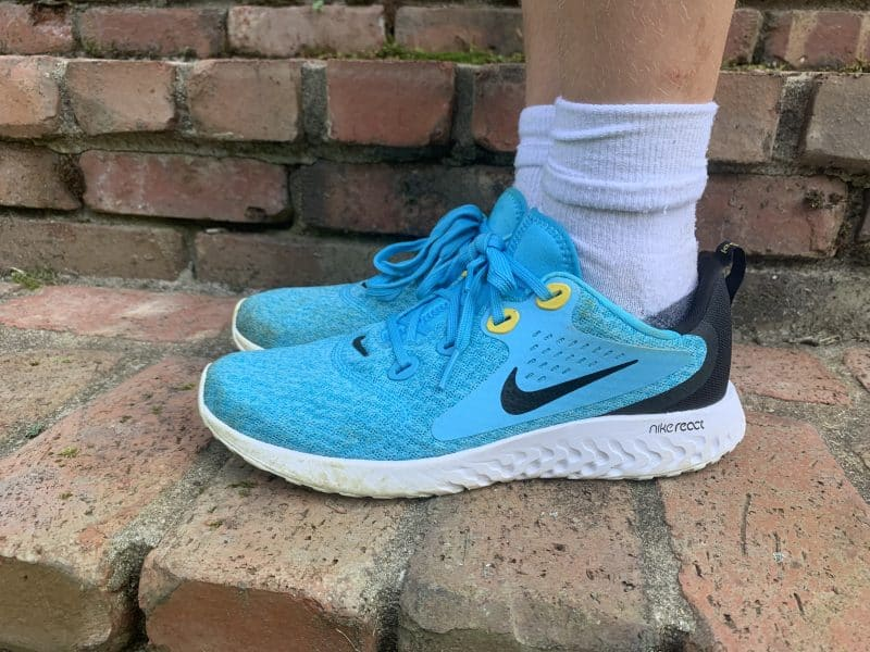 Boys bright blue nike sneakers