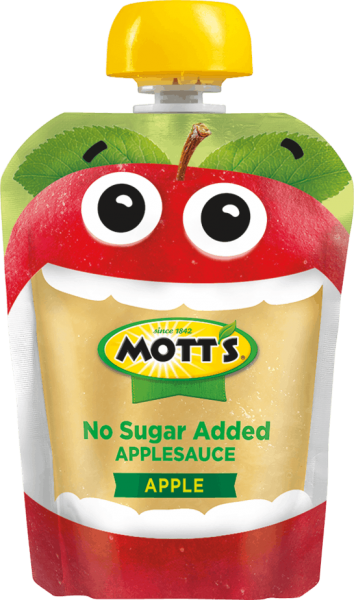 plain no sugar added applesauce in clear pouch