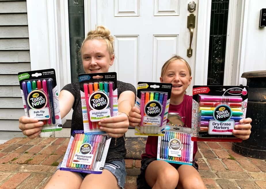 crayola take note school supplies