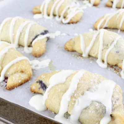 Blueberry Iced Crescent Rolls