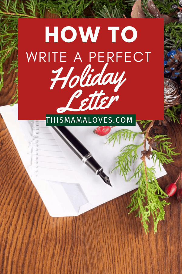 How to write a perfect holiday letter every year
