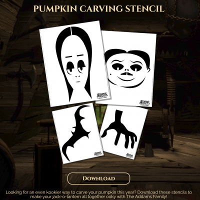 THE ADDAMS FAMILY Pumpkin Stencils #MeettheAddams