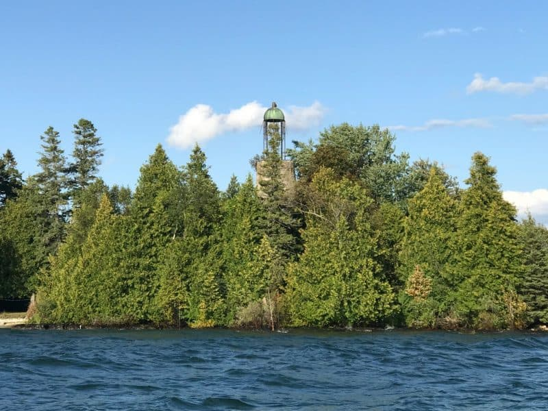 birdcage lighthouse from adventure rafting door county