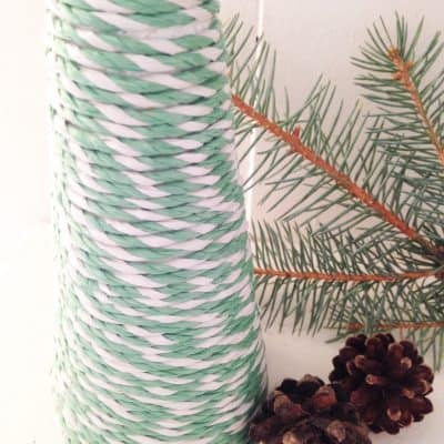 Dollar Store DIY: Twine Wrapped Christmas Tree