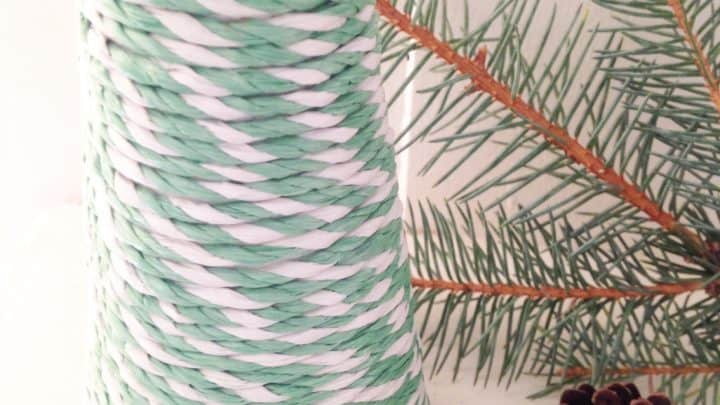Dollar Store DIY: Twine Wrapped Christmas Tree