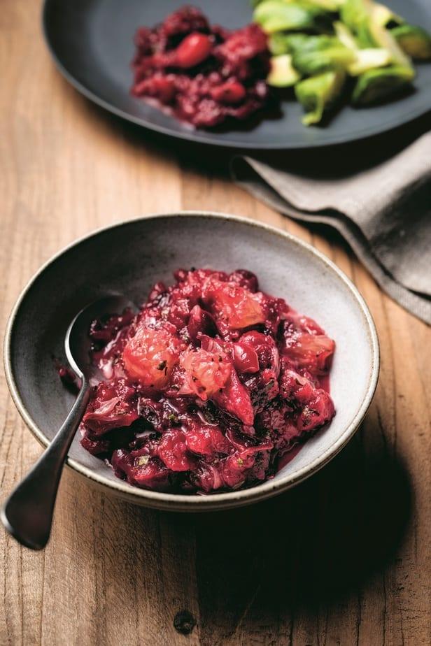 Cranberries with Campari and Grapefruit