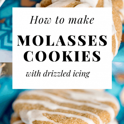 Easy Iced Molasses Cookies Long