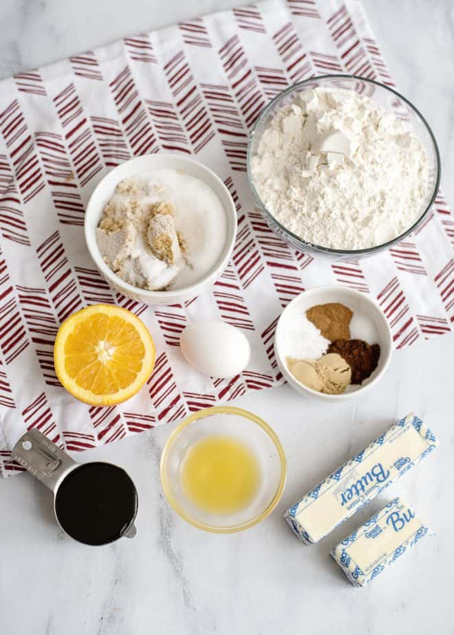 Iced Molasses cookie ingredients