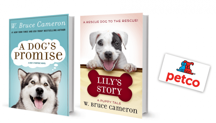 w bruce cameron books giveaway with books and petco gift card