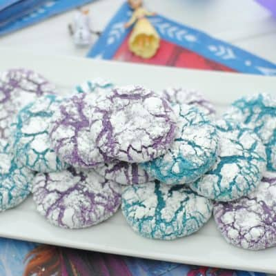 Frozen Inspired Crinkle Cookies