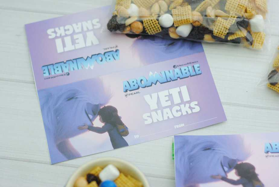Abominable Yeti Snack Mix Inspired by Abominable the Movies Everest