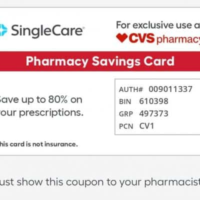 SingleCare Prescription Savings Card