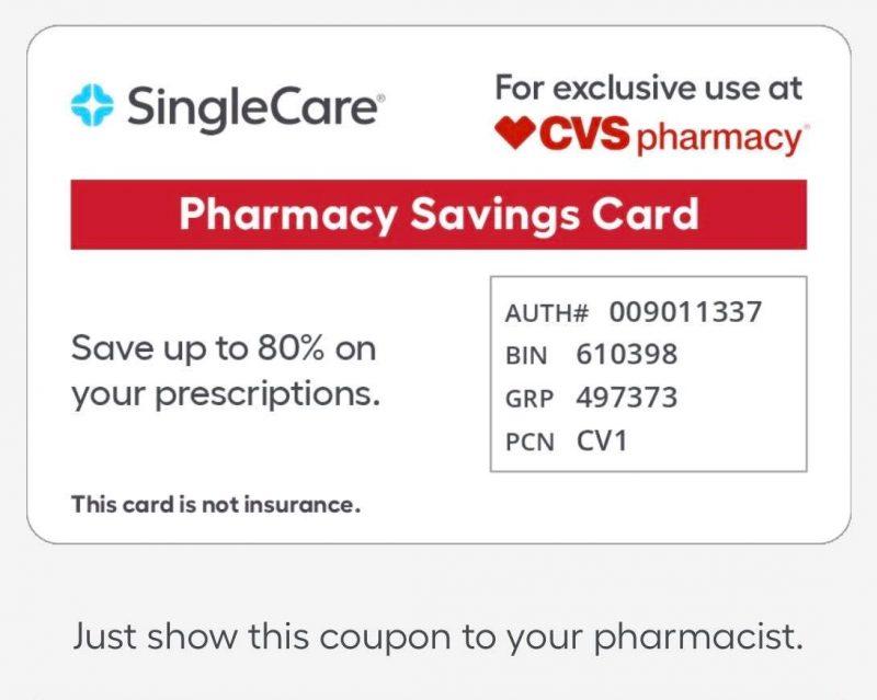 SingleCare Prescription Savings Card