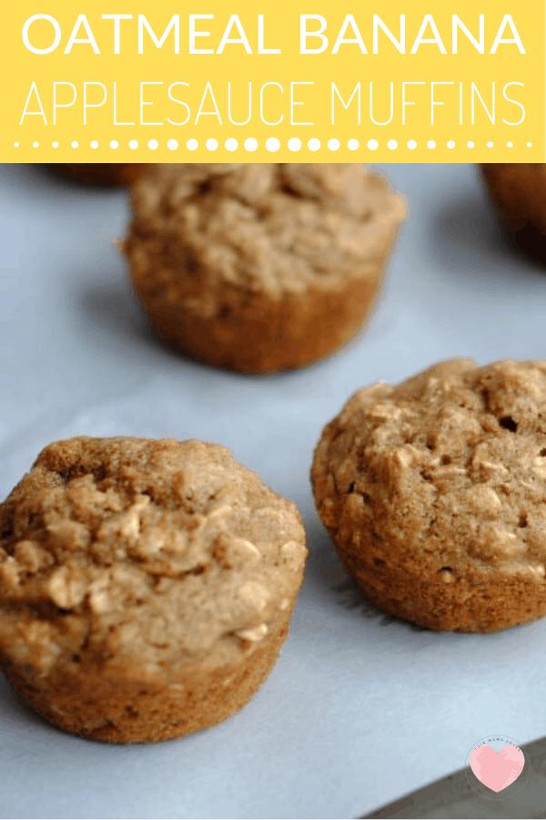 oatmeal banana applesauce muffins