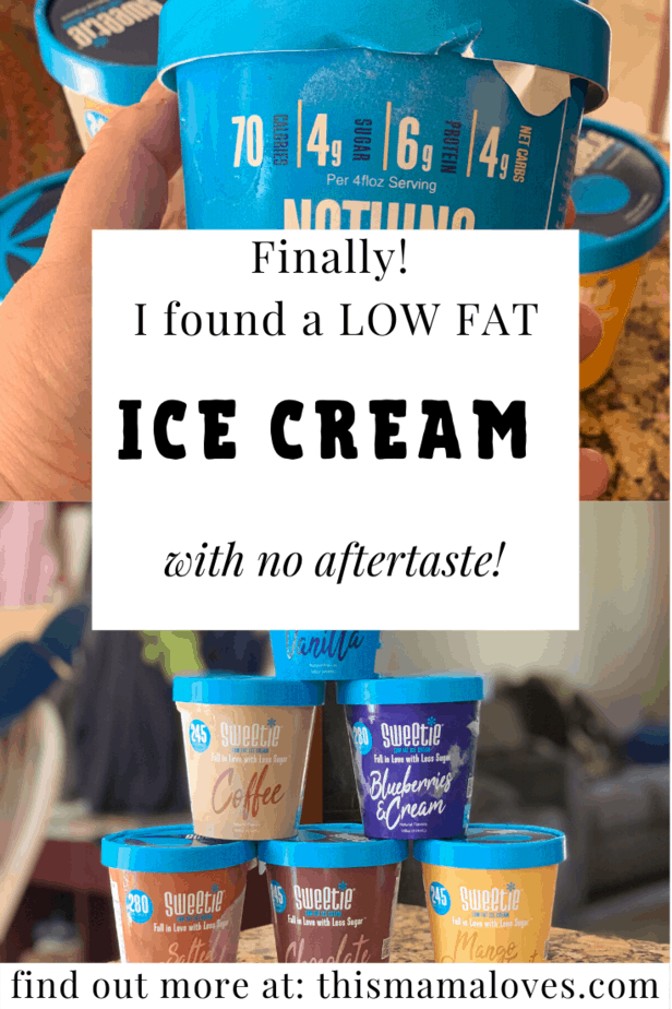 Low fat ice cream with no aftertaste