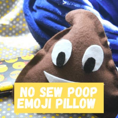 DIY Poop Emoji Pillow Craft from This Mama Loves