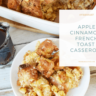 Overnight Apple Cinnamon French Toast Casserole