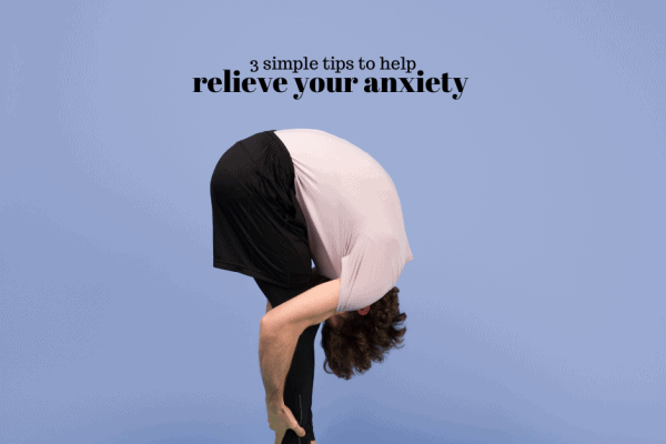Manage your mild or severe anxiety sympoms in an affective way with these three simple steps to help relieve your anxiety.