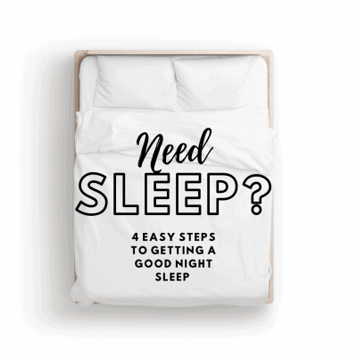 4 Easy Steps To A Good Night's Sleep