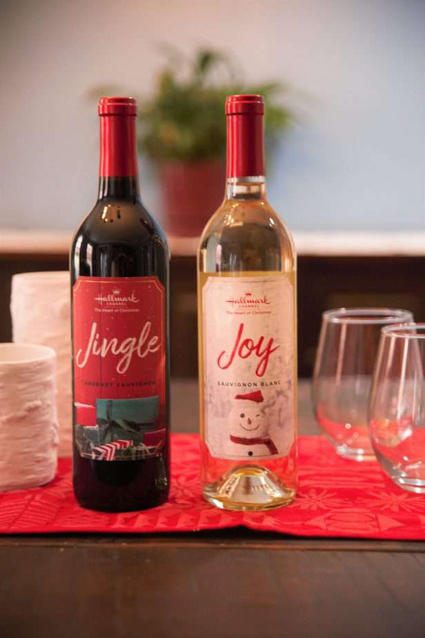 bottle of jingle and joy wines from hallmark channel