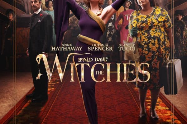 movie poster for roald dahl's the witches