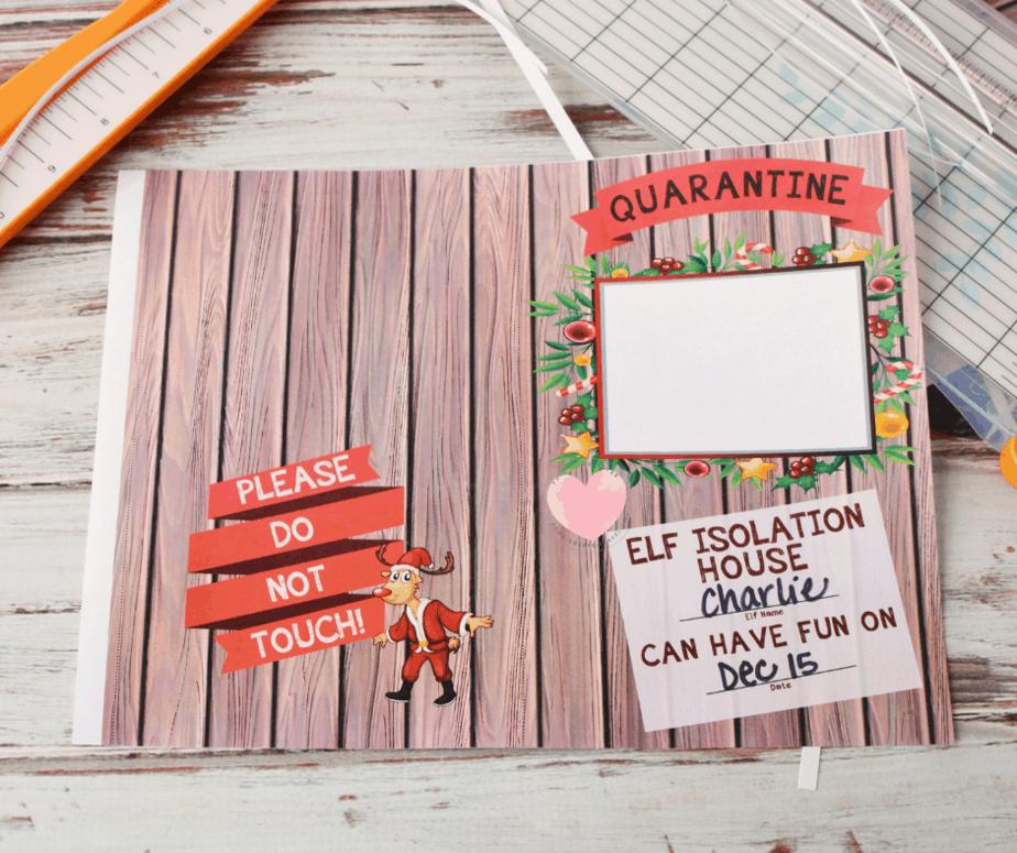 printable elf on the shelf isolation house for coronavirus quarantine