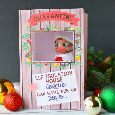 Printable Elf on the Shelf Quarantine Box (and Elf mask!)