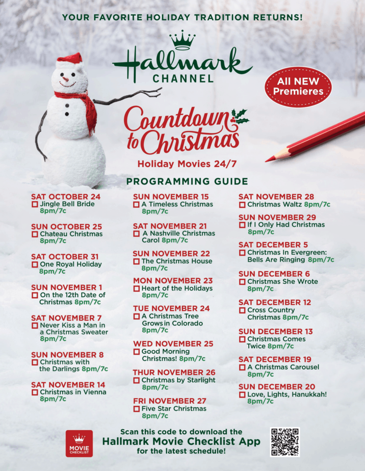 image of 2020 countdown to christmas schedule