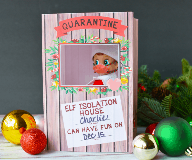 Printable Elf On The Shelf Quarantine Box And Elf Mask This Mama Loves