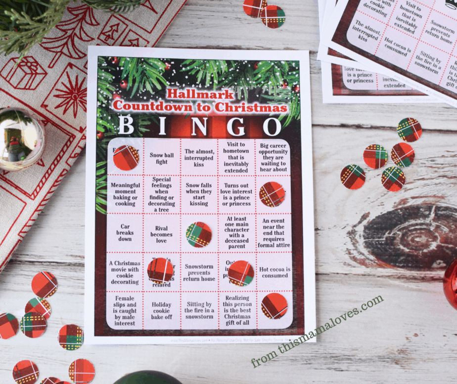 Hallmark Christmas Movie Bingo